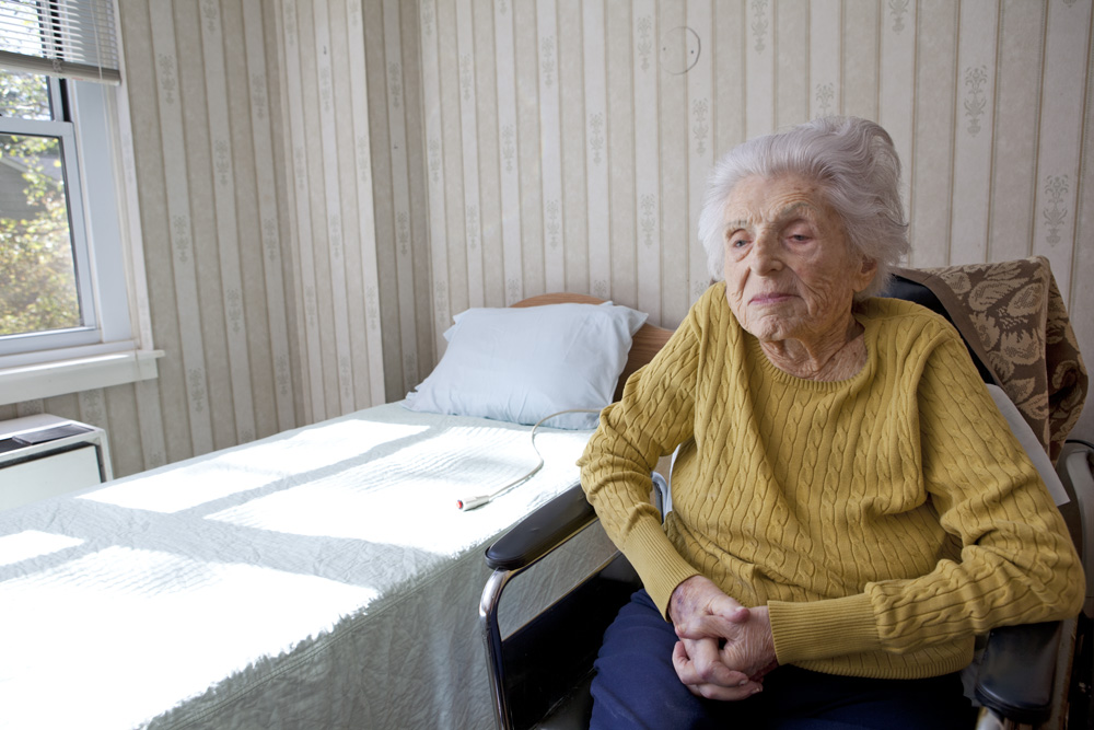 In her room at the nursing home, last week.