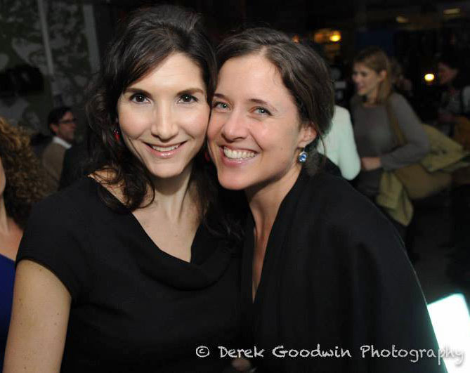 With the brave, talented and beautiful Jo at the afterparty. Photo: Derek Goodwin