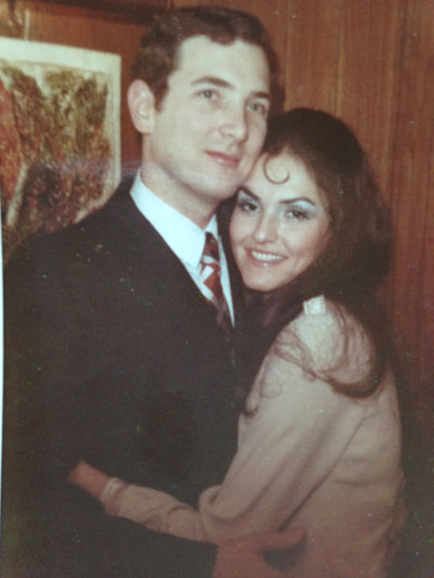 My parents on their wedding day. 34 years later, they were united in cancer.