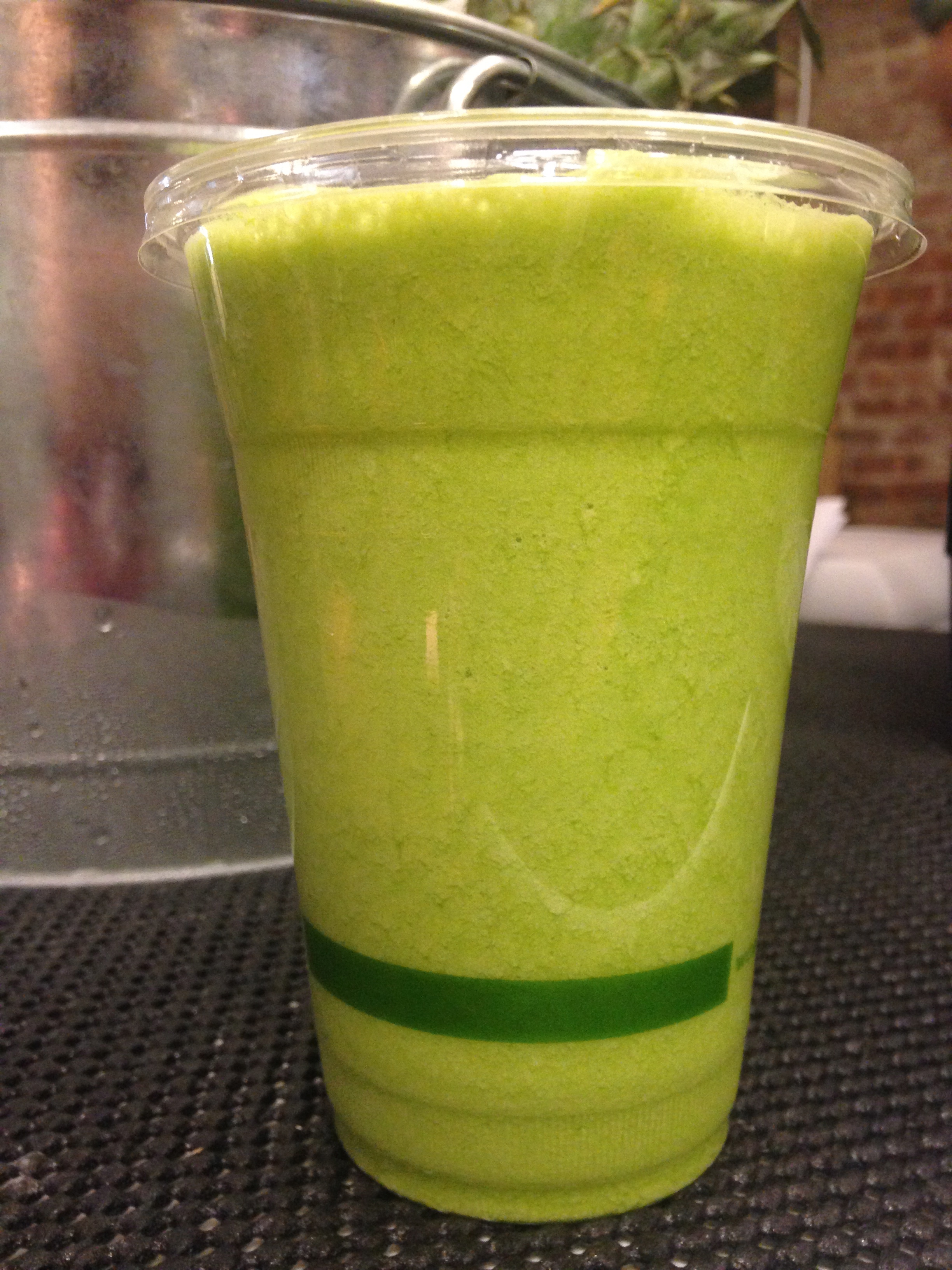 The inaugural green smoothie at the Seed